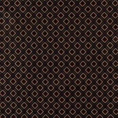 Designer Fabrics 54 in. Diamond Black Gold Green&Orange Damask Treatment Fabric