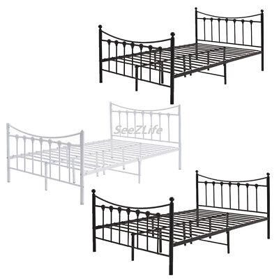 73da54b73a93 4ft Small 4ft6 Double Metal Bed Frame Strong Bedstead For Adult Children  Bedroom
