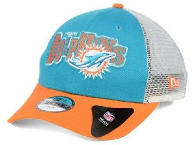 timeless design 9100f 33213 ... free shipping miami dolphins nfl new era 9forty youth trucker snapback  hat 4f4a7 d7808
