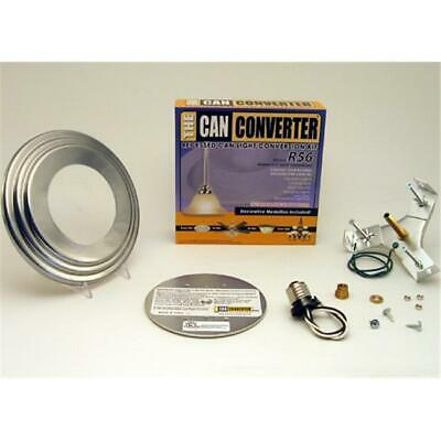 Can Converter 5-6 in. Recessed Can Light Converter Kit with Nickel Medallion