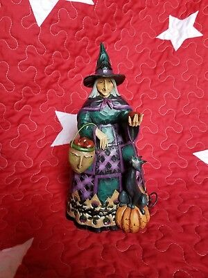 """Jim Shore """"Wicked To The Core"""" Witch (2011) MINT CONDITION"""