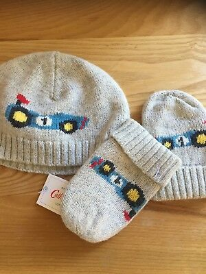 Cath Kidston New Boys Hat And Mittens One Size Aprox 3-6months