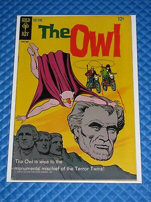 The Owl #2 Higher Grade Silver Age Gold Key Comic Jerry Siegel Scarce (1968)