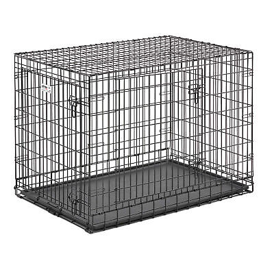 MidWest Homes for Pets 42 Inch Ultima Pro Double Door Dog Crate Cage Kennel