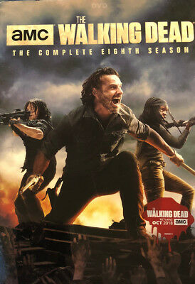 NEW!! The Walking Dead: The Complete Eighth Season (DVD, 2018)