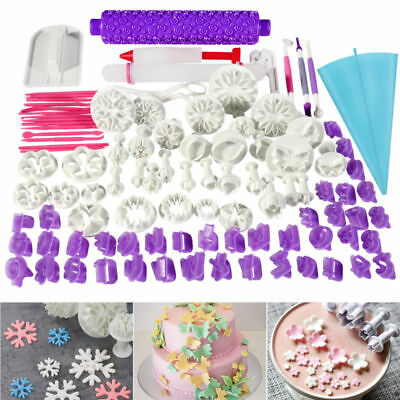 94pcs Plastic Fondant Biscuit Pastry Cookie Cutter Cake Maker Decor Mold Tool