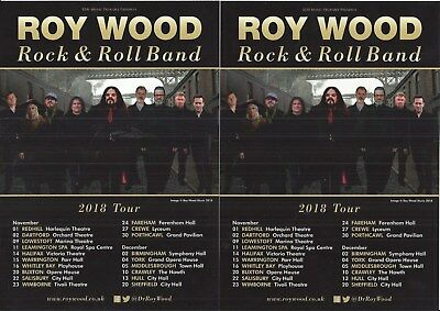 Roy Wood Rock & roll band - 2018 Tour FLYERS x 2