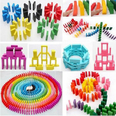 120Pcs/set 12 Colors Authentic Wooden Children Domino Game Fun Toy Kids Gifts S