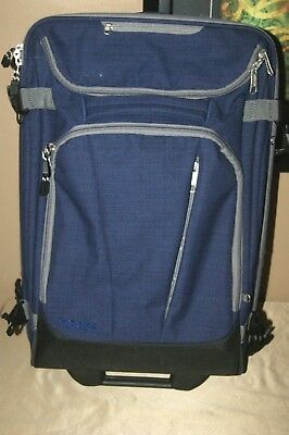 """eBags Mother Lode TLS Mini 21"""" Rolling Carry On Luggage Suitcase Indigo"""