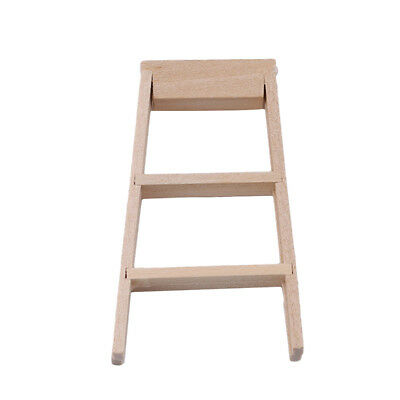 1/12 Dollhouse Miniature Furniture Bedroom Foldable Wooden Ladder Kids Toy S