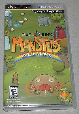 Pixel Junk: Monsters Deluxe Playstation Portable PSP Brand New Sealed!
