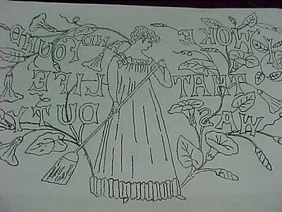 Vintage Antique REDWORK Pattern Victorian Pillow Cover Sewing Embroidery Project