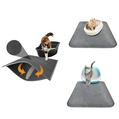 Double Layer Cat Litter Mat Trapper Foldable Pad Pet Rug EVA Foam Rubber S/M Hot