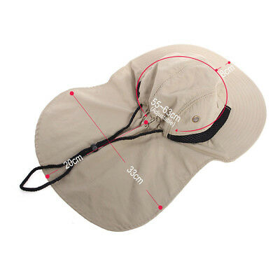 4735cb4a189 Neck Flap Boonie Hat Fishing Hiking Safari Outdoor Sun Brim Bucket Bush Cap