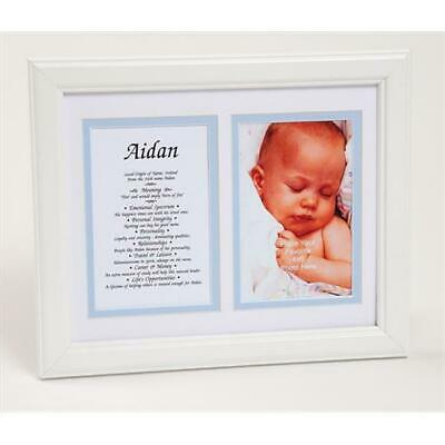 Townsend Personalized First Name Baby Boy & Meaning Print, Framed Name - Michael