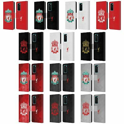 Official Liverpool Football Club Crest 1 Pu Leather Book Case For Huawei Phones