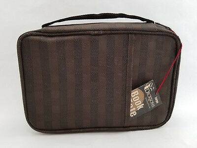 Holy Bible Book Cover Brown Woven Nylon Carrying Case Tote Bag Dicksons NWT LG
