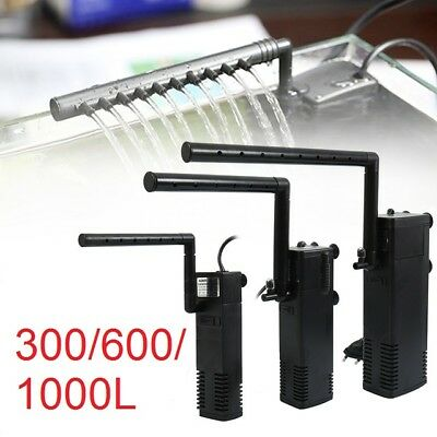 300/600/1000L Internal Aquarium Fish Tank Filter Filtration Pump Spray Bar UK