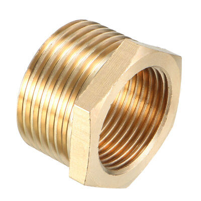 Brass Threaded Pipe Fitting 1 PT Male x 3/4 PT Female Hex Bushing Adapter