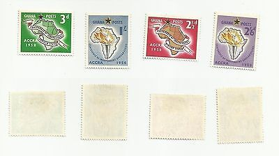 Ghana - Scott# 21-24 Conference Independent African States - MINT, light hinged