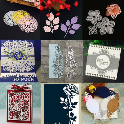 DIY Metal Lace Cutting Dies Stencil Scrapbook Album Paper Card Embossing Craft