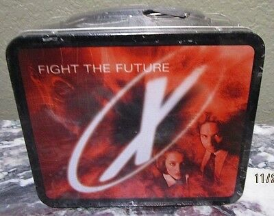 X-Files 1998 Fight The Future Movie New Metal Lunch Box Mint In Sw