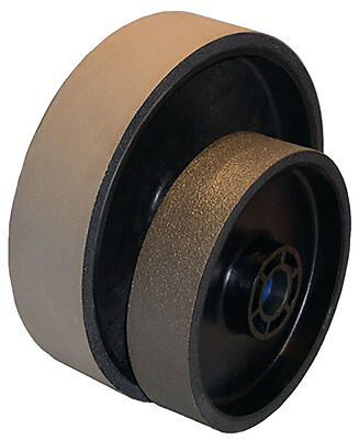 "BUTW 6"" x 1 1/2"" x 8000 grit diamond soft flex lapidary grinding wheel East"