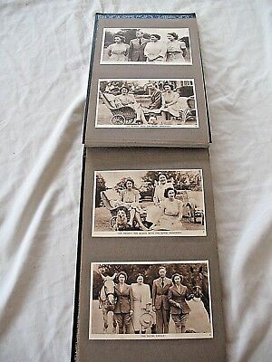 Old Postcard album full of the royalty family photographic postcards & Churchill