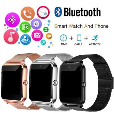 Bluetooth Smart Watch GSM SIM Phone Mate Z60 Stainless Steel For IOS Android Hot