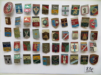 50 set lot pin badge USSR Soviet Russia UKRAINE ancient COAT of ARMS Gold RING