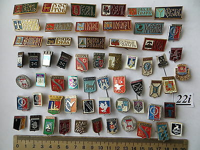 60 lot set pin badge USSR Soviet Russia UKRAINE ancient COAT of ARMS MINI small