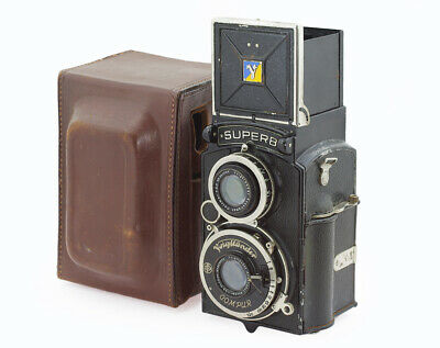 Voigtlander Superb 6x6 TLR Vintage Camera with Skopar 3.5/75 mm