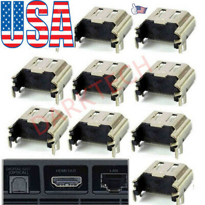 10pcs HDMI Port Connector Socket Replacement for Sony PlayStation4 PS4* -Console