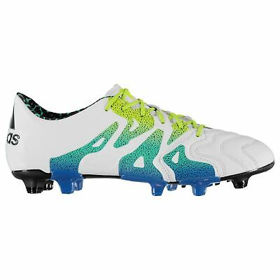 6f6135b78 adidas Mens X 15.1 FG AG Leather Football Boots Firm Ground Lace Up Pattern