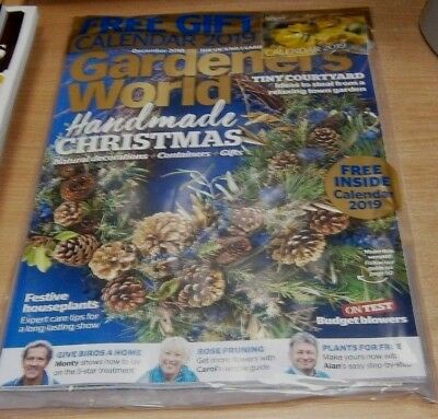 BBC Gardeners' World magazine DEC 2018 Handmade Christmas + 2019 Calendar