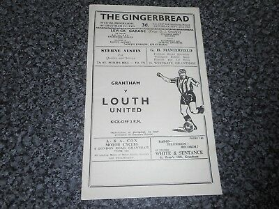 GRANTHAM  v  LOUTH UNITED ( LINCOLN SHIRE )  1961/2 F.A. CUP 2nd QUALIFYING