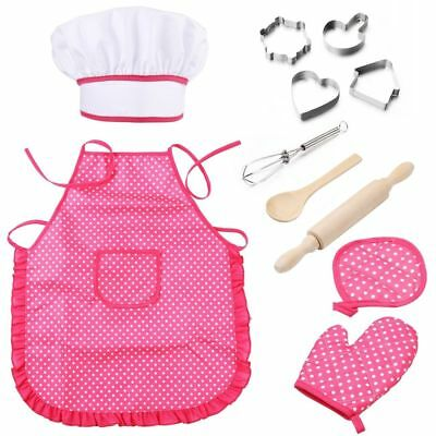 11Pcs Chef Set Protective Cute Lightweight Complete Playset for Cooking Kitchen