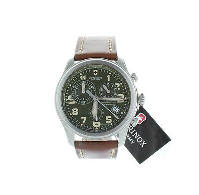 Victorinox Swiss Army Infantry Vintage Leather Strap Chrono Watch for Men  241287 854a8ce10b
