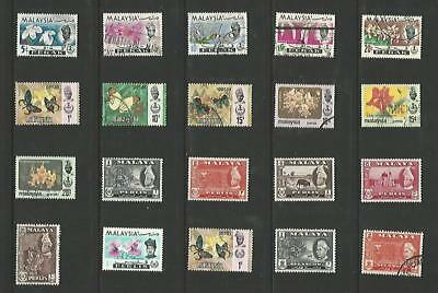 y5827 Malaysia - States / A Small Collection Early & Modern  Lhm & Used