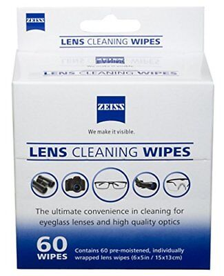 Zeiss Pre-Moistened Lens Cleaning Wipes 6 x 5-Inches   EXP 05/2019