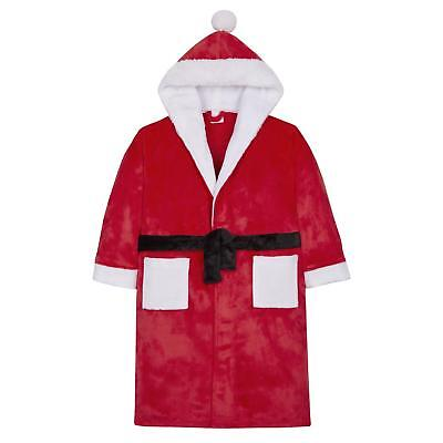 Childrens Santa / Father Christmas Soft Fleece Dressing Gown Robe ~ 2-13 Years