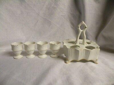 Vintage Carlton Ware Egg Cup Set And Stand