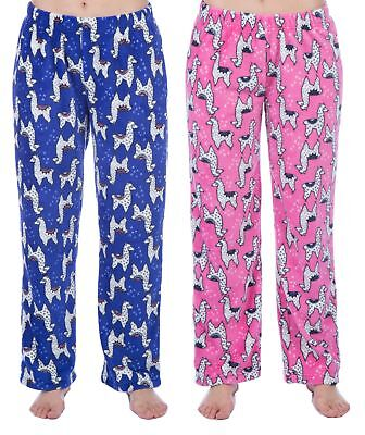 Childrens / Girls Soft Fleece Llama Lounge Pants / Pyjama Bottoms Pj