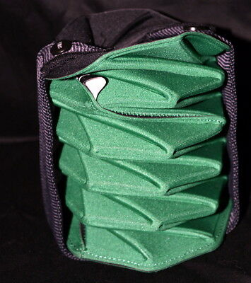 BUILT NYC Origami Compact Wine & Water Neoprene Tote Carrier With Handle  Green