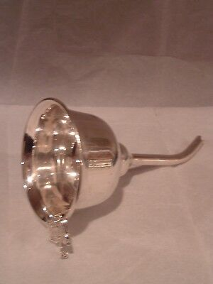 Vintage Silverplate Wine Funnel , Nice and Clean