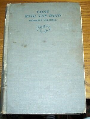 Vintage 1936 Gone With The Wind Margaret Mitchell 1st Ed Hardcover
