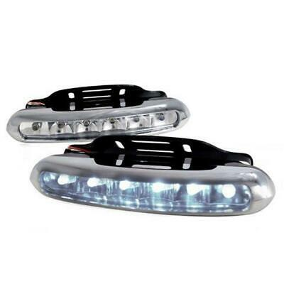 Spec-D Tuning Universal LED Bumper Fog Light Clear for All 10 x 10 x 12 in.
