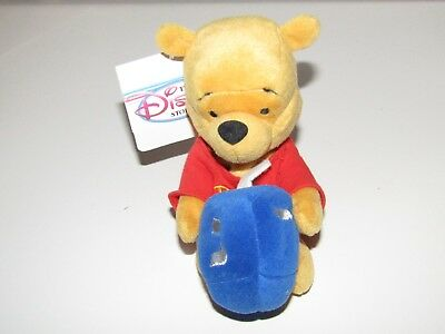 "Disney Winnie the Pooh plush soft toy 8"" Pooh Hanukkah beanbag new with tag"