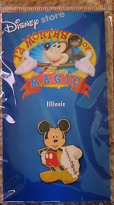 COLLECTORS  Disney Store 12 Months of Magic Pin-Illinois-Mickey - mint, sealed