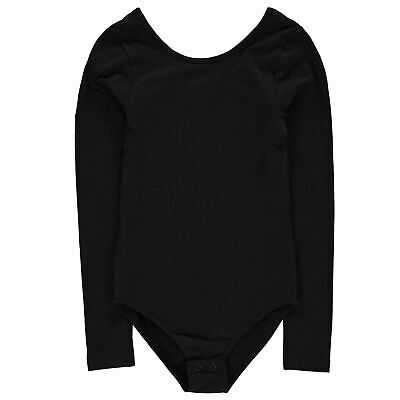 Firetrap Kids Girls Bodysuit Junior Long Sleeve Round Neck Lightweight Block